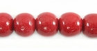 Light Red Round Limestone Coral Beads