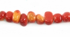 Nugget Limestone Apple Coral Beads