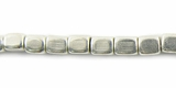 Cube Silver Beads 3x4mm