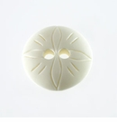 White Bone Button Beads 26mm