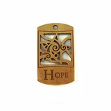 "Wooden Charm ""Hope"" Pendant"