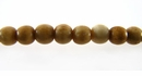 Tea Dyed Bone Round Beads 4mm
