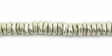 Chip Finish Silver Beads 4mm