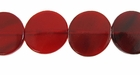 Red Horn Disc Side Drilled Beads 20mm