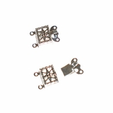 Silver Plated Snap Clasps 10x14mm