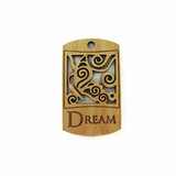 "Wooden Charm ""Dream"" Pendant"