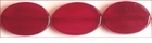 Red Greyhorn Flat Oval Beads 13x17mm