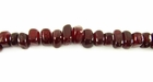 Red Nugget Horn Beads 6mm