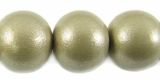 Metallic Nude Round Wood Beads