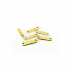 Gold Plated 2 Strand Spacer Bars 10x1mm