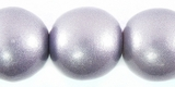 Metallic Purple Round Wood Beads  20mm