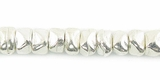 Chip Silver Plated Beads 4x3mm