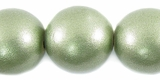 Metallic Green Round Wood Beads 20mm