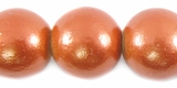Metallic Copper  Round Wood Beads 20mm