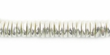 Chip Finish Silver Beads 6mm