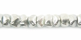 Chip Finish Silver Beads 6x4mm