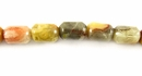 Yellow Short Tube Capsule Agate Beads 4x6mm