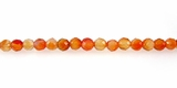 Carnelian Round Beads Faceted 6mm