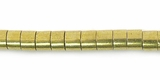 Heishi Brass Beads 4x3mm