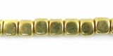 Dice Brass Beads 5x5mm