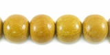 Round Nangka Wood Beads 10mm