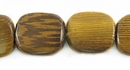 Flat Square Robles Wood Beads 12mm