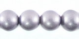 Metallic Purple Round Wood Beads 10mm