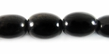 Black Horn Oval Beads 13x16mm