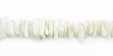 White Fragum Crazycut Shell Beads 6-8mm