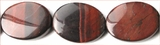 Red Tiger Eye Flat Oval Beads grade AB