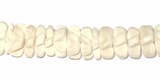 Bleached White Coco Flower Beads 8mm