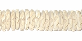 Coco Flower  Beads 15mm - Bleached White