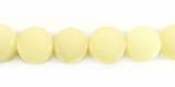 Polished White  Disc Buri Beads 10mm