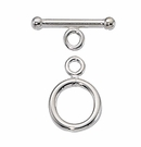 Silver Filled Round Toggle Clasp