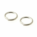 Sterling Silver Jump Ring 8mm, Open Ring