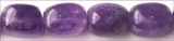Amethyst Tumble Beads 12x16mm