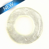Lam. Capiz Shell Irregular Donut 50mm - Natural