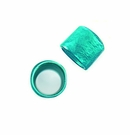 Laminated Turquoise  Capiz Ring  Beads