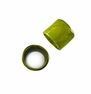 Laminated Shell Capiz Ring Beads - Olive Green