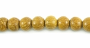 Round Nangka Wood Beads 6mm
