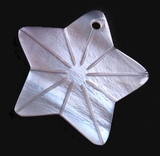 Hammershell Star Shell Pendants 25x23mm