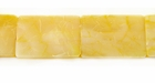 Cracking Rectangular Dyed Yellow Mother Of Pearl Shell Beads 12x18mm