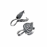 Sterling Silver Leaf Design Bail 18x11mm