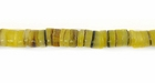 Yellow Dyed Hammershell Heishi Beads 4-5mm