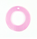 "Hammershell ""O"" Ring 20mm Pink Shell Beads"