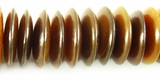 Golden Horn Saucer Beads 6x20mm