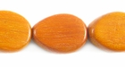 Flat Teardrop Redwood Beads 12x16mm