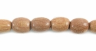 Oval Rosewood  Wood Beads 6x7mm