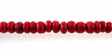 Red Round Coco Beads 2-3mm