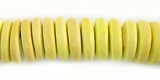 Yellow Coco Pukalet Beads 10mm